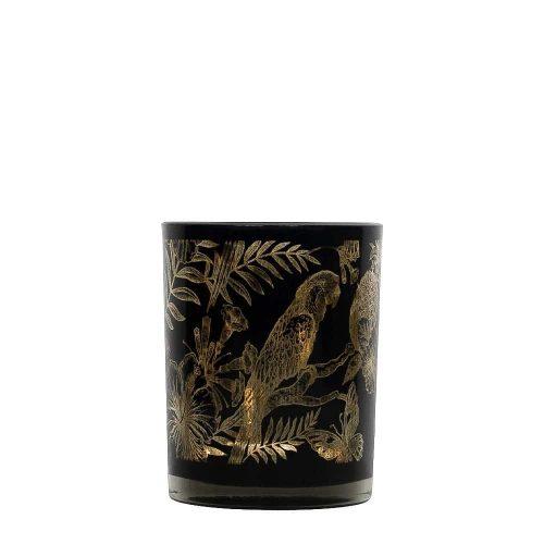 Waxinelichthouder Papegaai Zwart (12 x 10 cm)