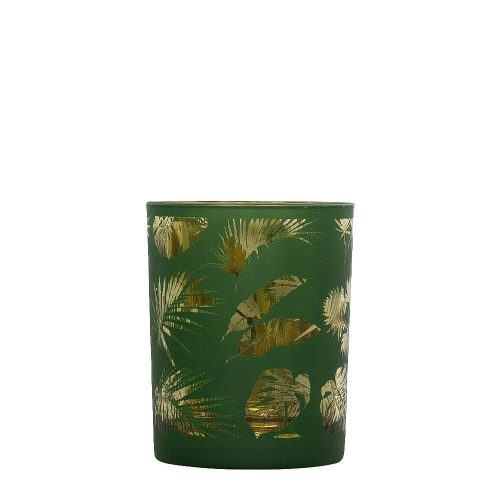 Waxinelichthouder Veren Groen (8 x 7 cm)