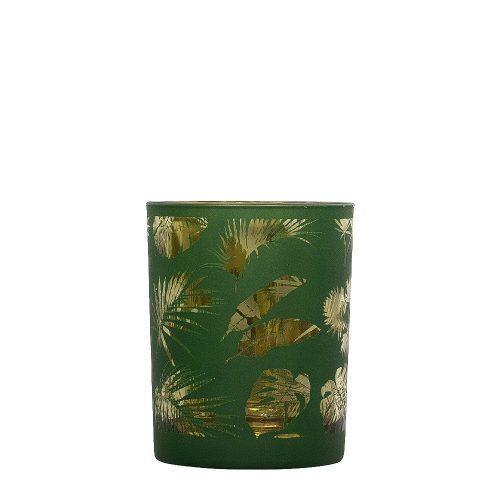 Waxinelichthouder Veren Groen (10 x 8 cm)