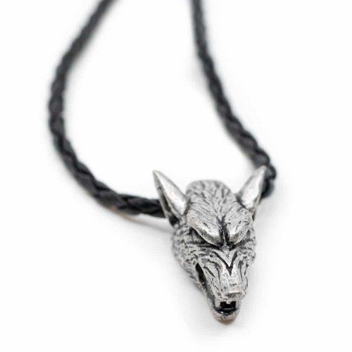 Beschermhanger Viking Zilverkleurige Wolf