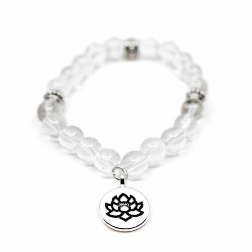 Edelsteen Armband Bergkristal Lotus