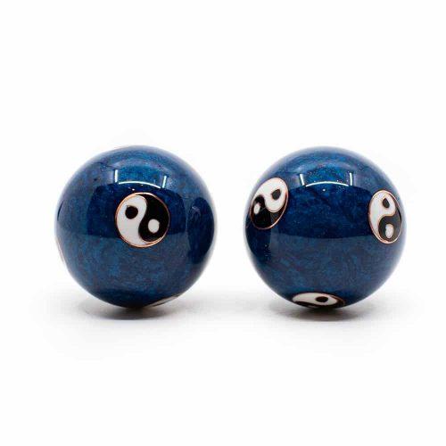 Meridiaan Kogels Yin Yang Groot Blauw