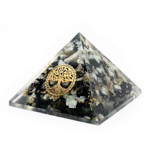 Orgonite Piramide Chrysocolla - Tree of Life - (40 mm)