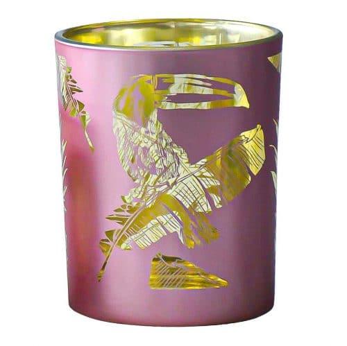 Waxinelichthouder Toekan Roze (12 x 10 cm)