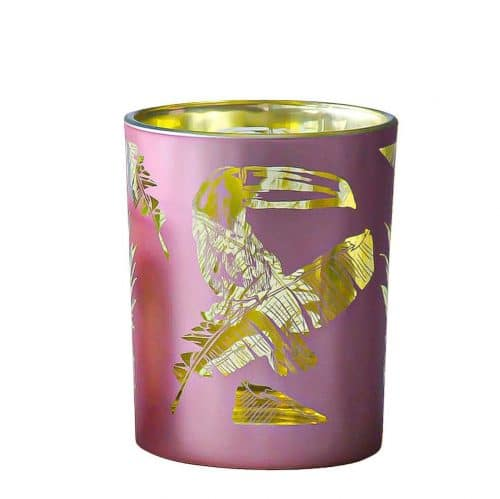 Waxinelichthouder Toekan Roze (10 x 8 cm)