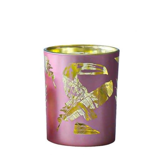 Waxinelichthouder Toekan Roze (8 x 7 cm)