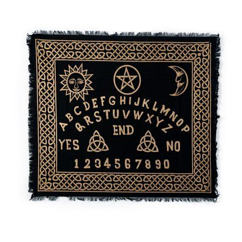 Pendel Mat Zwart met Goudkleurige Letters (60 x 70 cm)