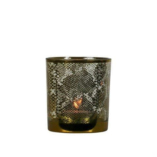 Waxinelichthouder Slang Goudkleurig (12,5 x 10 cm)