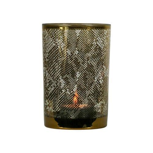 Waxinelichthouder Slang Goudkleurig (18 x 12 cm)