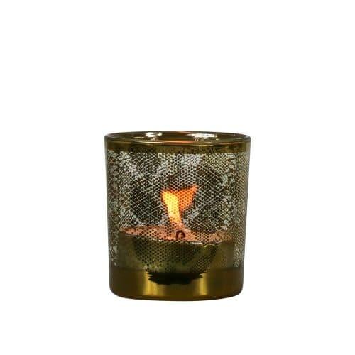 Waxinelichthouder Slang Goudkleurig (8 x 7,3 cm)