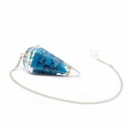 Pendel Edelsteen Turkoois Orgone Blauw