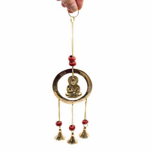 Raamhanger met Belletjes - Boeddha - Bescherming