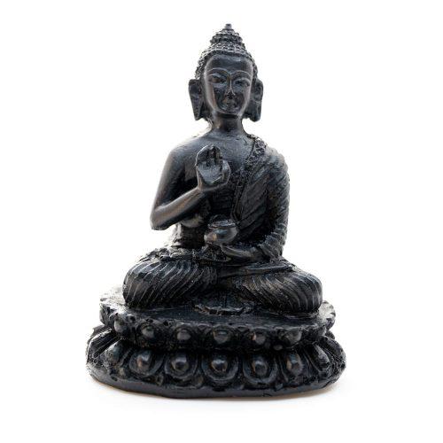 Boeddha Beeld- Zwarte afwerking - Teaching (10 cm)