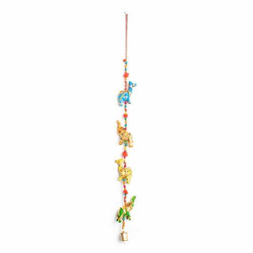 Decoratieve Slinger Stoffen Dieren met Belletjes (80 cm)
