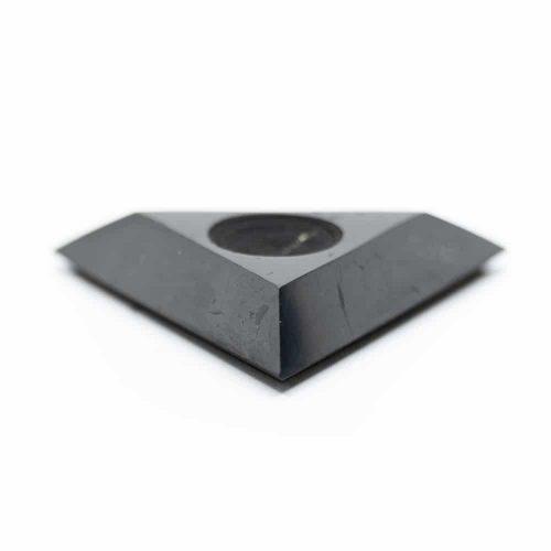 Shungiet Driehoek Standaard voor Edelstenenbol (60 mm)