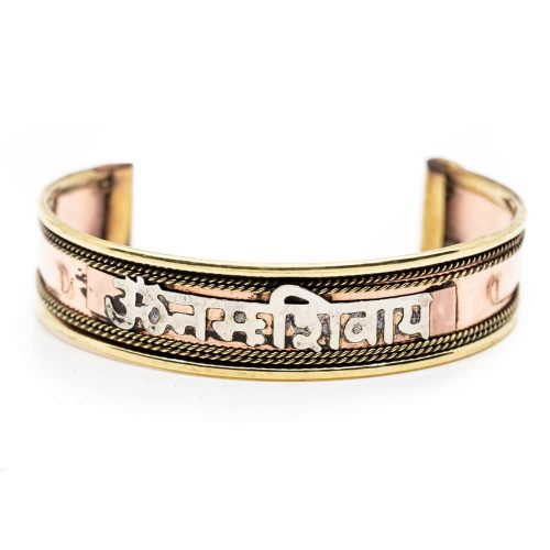 Tibetaanse Armband Handgemaakt Koperkleur