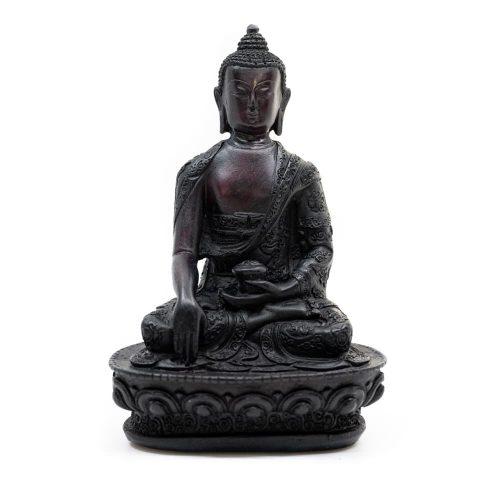 Zittende Boeddha - Zwarte afwerking (18 cm)