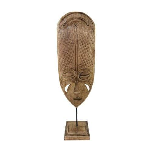 Decoratief Masker van Mangohout op Standaard (52 cm)
