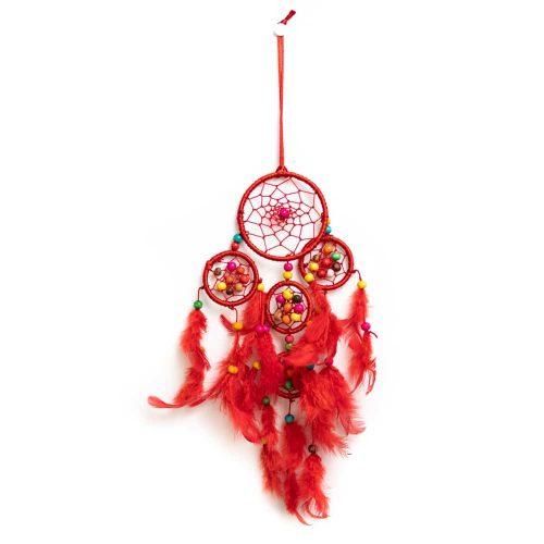 Dromenvanger Rood met Gekleurde Kralen