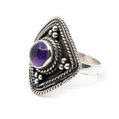 """Edelsteen Ring Amethist 925 Zilver """"Yirsa"""" (Maat 17)"""