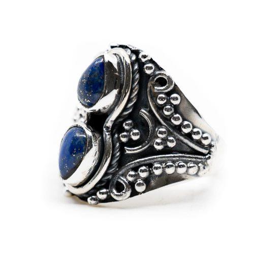 """Edelsteen Ring Lapis Lazuli 925 Zilver """"Vizrea"""" (Maat 17)"""