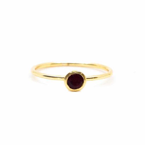 Geboortesteen Ring Robijn Juli - 925 Zilver (Maat 17)