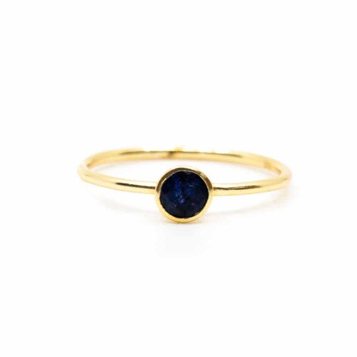 Geboortesteen Ring Saffier September - 925 Zilver (Maat 17)