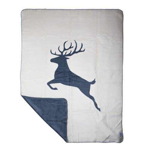 Polyester Deken Springend Hert Donkergrijs (130 x 180 cm)