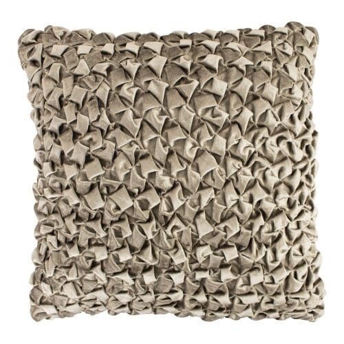 Groot Fluwelen Sierkussen Smock Taupe (50 x 50 cm)