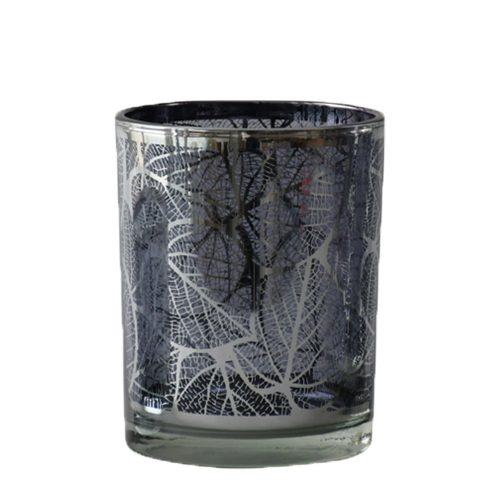 Waxinelichthouder Blad Zilverkleurig (12,5 x 10 x 10 cm)