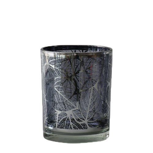 Waxinelichthouder Blad Zilverkleurig (8 x 7 x 7 cm)