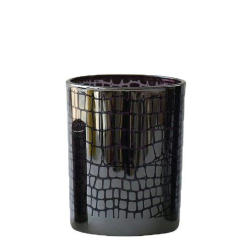 Waxinelichthouder Croco Zilverkleurig (8 x 7 x 7 cm)
