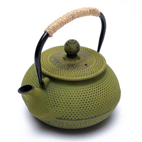 Japanse Stijl Tetsubin Groene Gietijzeren Theepot (600 ml)