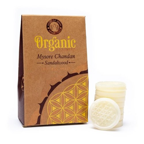 Organic Goodness Chandan Sandelhout Wax Melts / Smeltkaarsjes (40 gram)