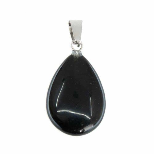Druppelvormige Edelsteen Hanger Obsidiaan (20 mm)