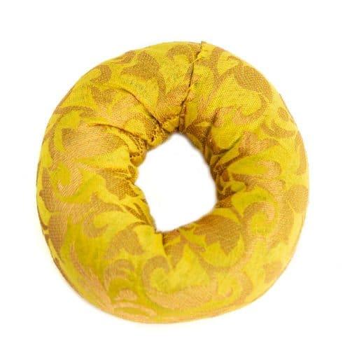 Klankschaalkussen Ringvormig Geel (10 x 3 cm)
