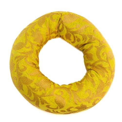 Klankschaalkussen Ringvormig Geel (15 x 4 cm)