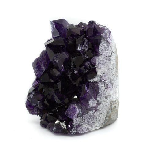 Ruwe Donkere Amethist Edelsteen Geode Staand 50 - 80 mm