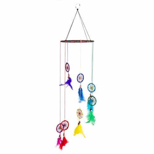 Windmobiel met 7 Chakra Dromenvangers