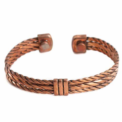 "Koperen Magneet Armband ""Weaver"""