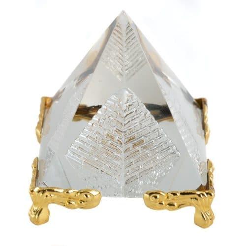 Kristallen Piramide Feng Shui met Pootjes (5 cm)