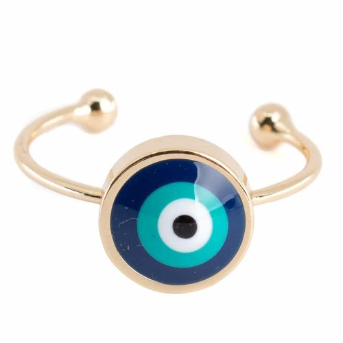 Verstelbare Ring Boze Oog (10 mm)
