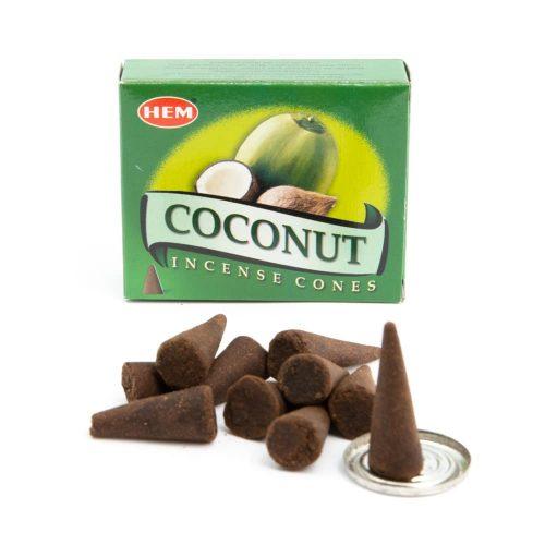HEM Wierook Kegels Kokosnoot (1 doosje)